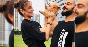 Virat Kohli And Anushka Sharma Cuddle With A Puppy