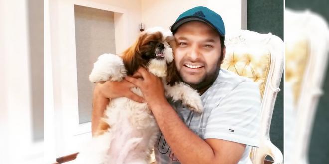 Kapil Sharma With His Pet Dog Cheeku
