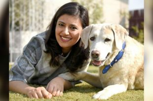 Rashi Narang Heads up for tails with her pet dog